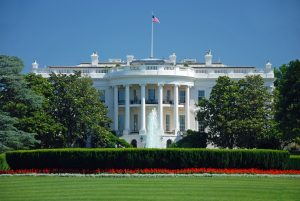 White House, blue sky